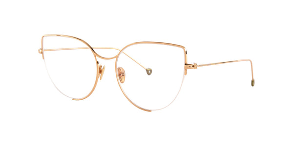 Alexandra optique- Or pale - Nathalie Blanc / Nathalie Blanc Paris - Luxury eyewear made in France
