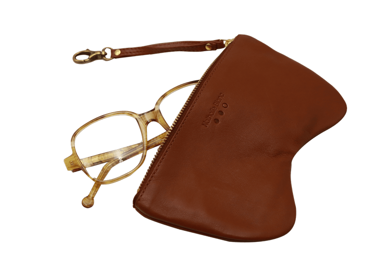 LEATHER ZIPPED POUCH
