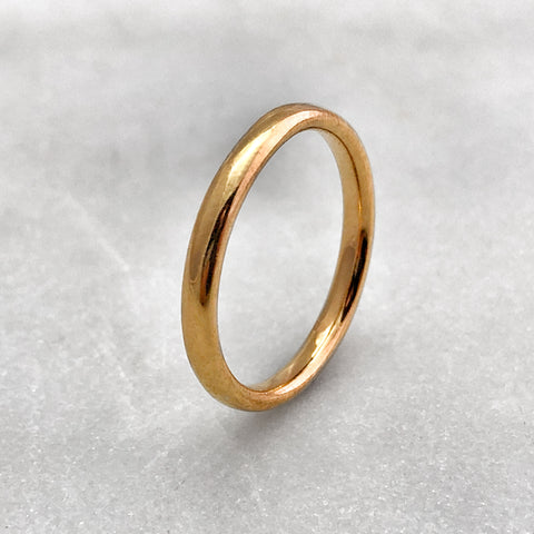 2.5mm Polished 18ct Gold Band
