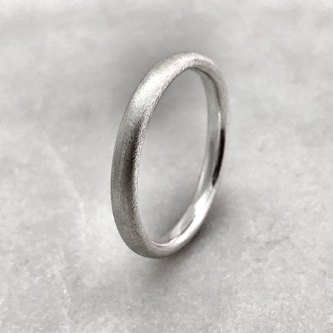 2.5mm Matt Silver Band