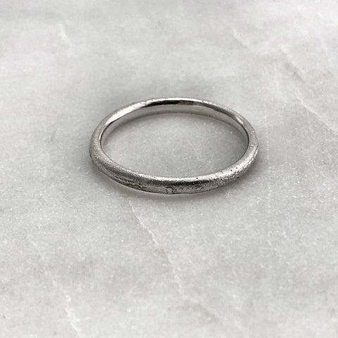 2.5mm Rustic Silver Band