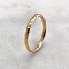 2.5mm Hammered 18ct Gold Band