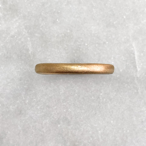 2.5mm Matt 18ct Gold Band