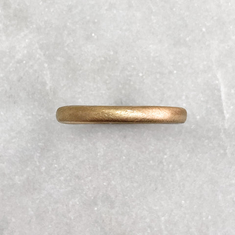 2.5mm Matt 9ct Gold Band