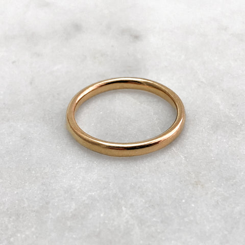 2.5mm Polished 9ct Gold Band