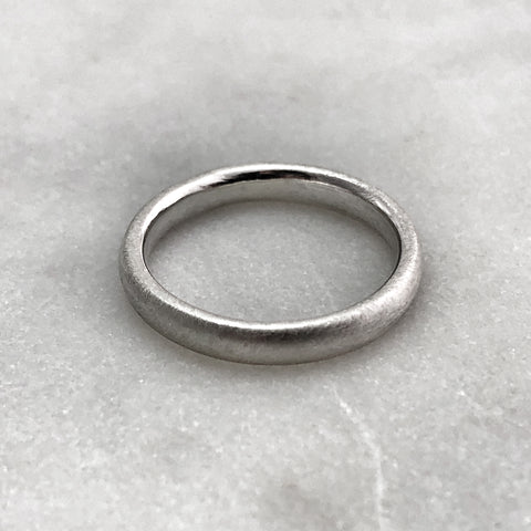 3.1mm Matt Silver Band