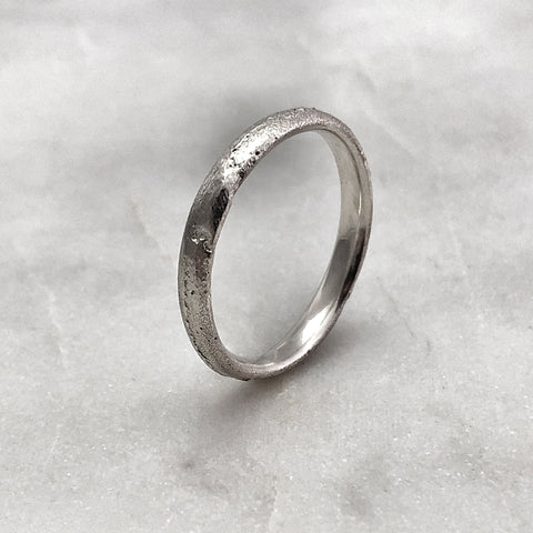 3.1mm Rustic Silver Band