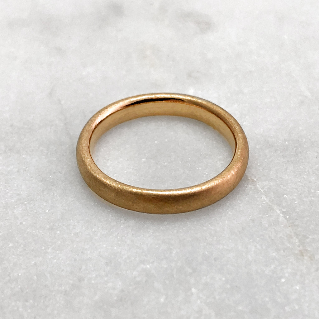 3.1mm Matt 18ct Gold Band