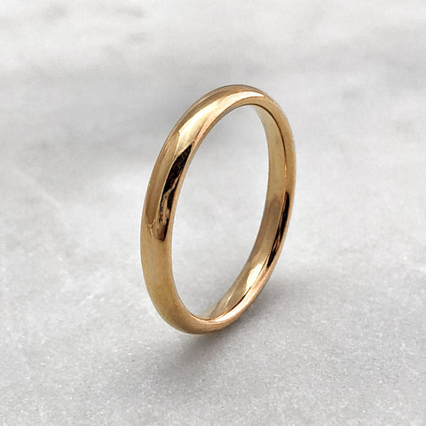 3.1mm Polished 18ct Gold Band