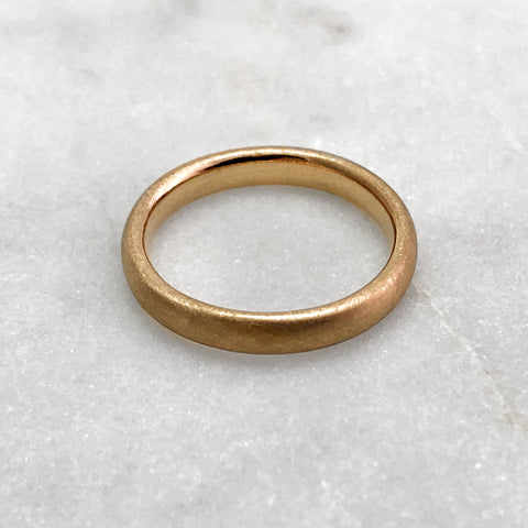 3.1mm Matt 9ct Gold Band