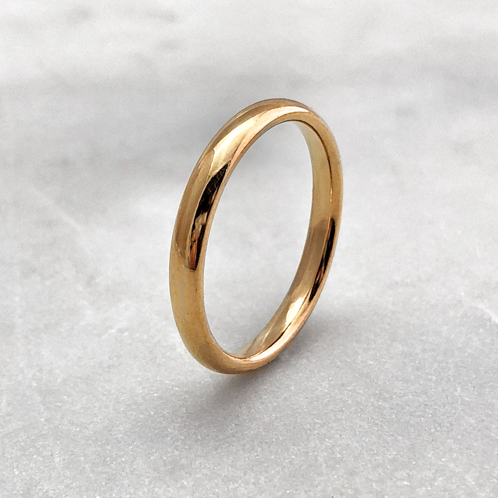 3.1mm Polished 9ct Gold Band