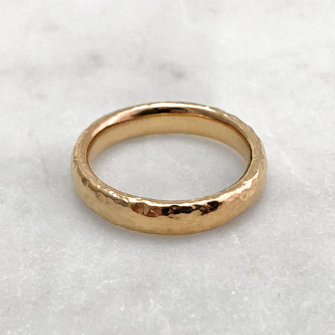 4.6mm Hammered 9ct Gold Band