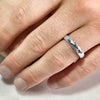 4.6mm Rustic Silver Band
