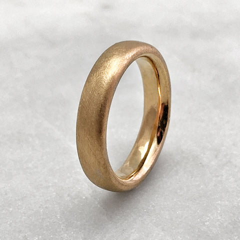 4.6mm Matt 9ct Gold Band