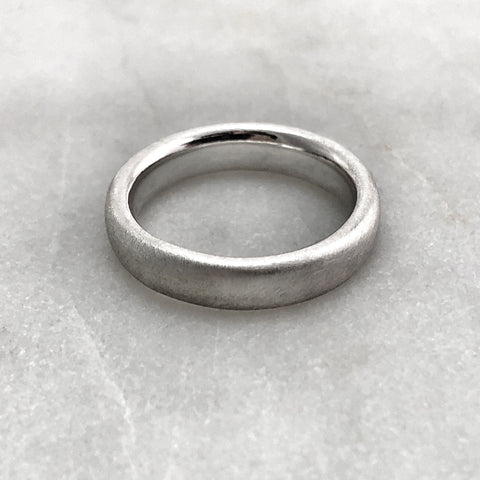 4.6mm Matt Silver Band
