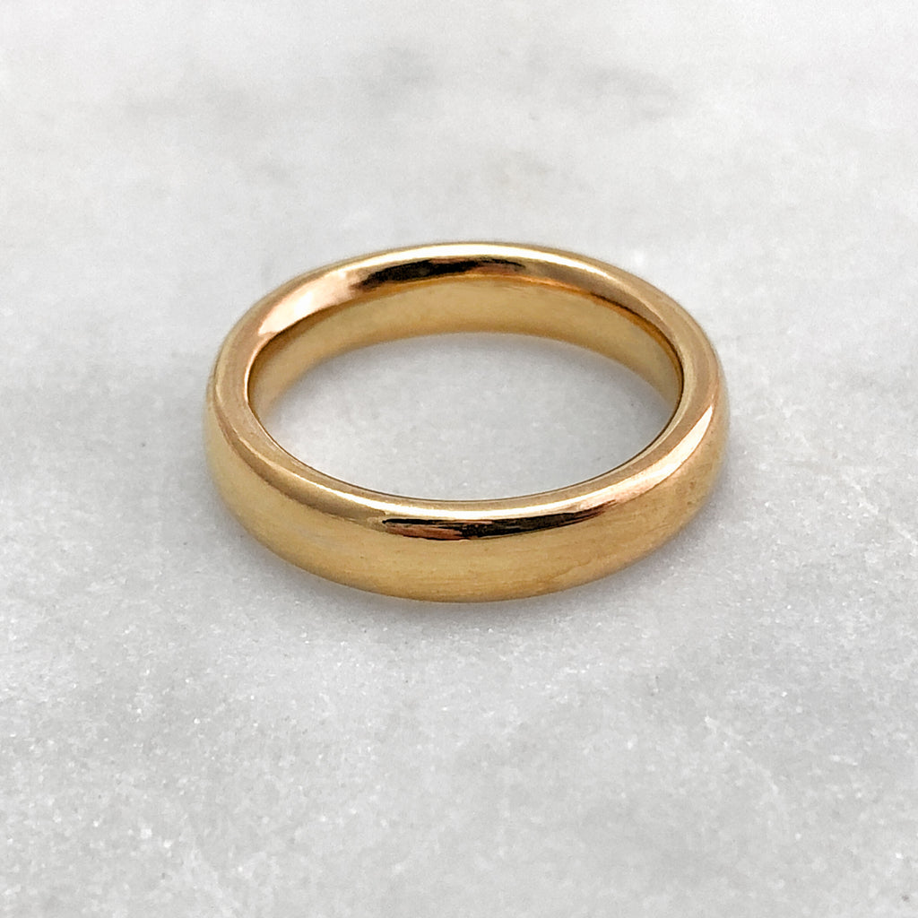 4.6mm Polished 18ct Gold Band