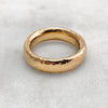 5.6mm Hammered 18ct Gold Band