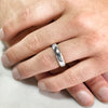 5.6mm Rustic Silver Band