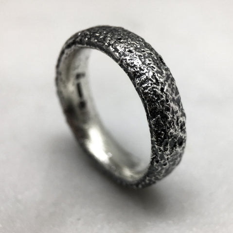 Reticulated 6mm Silver Ring