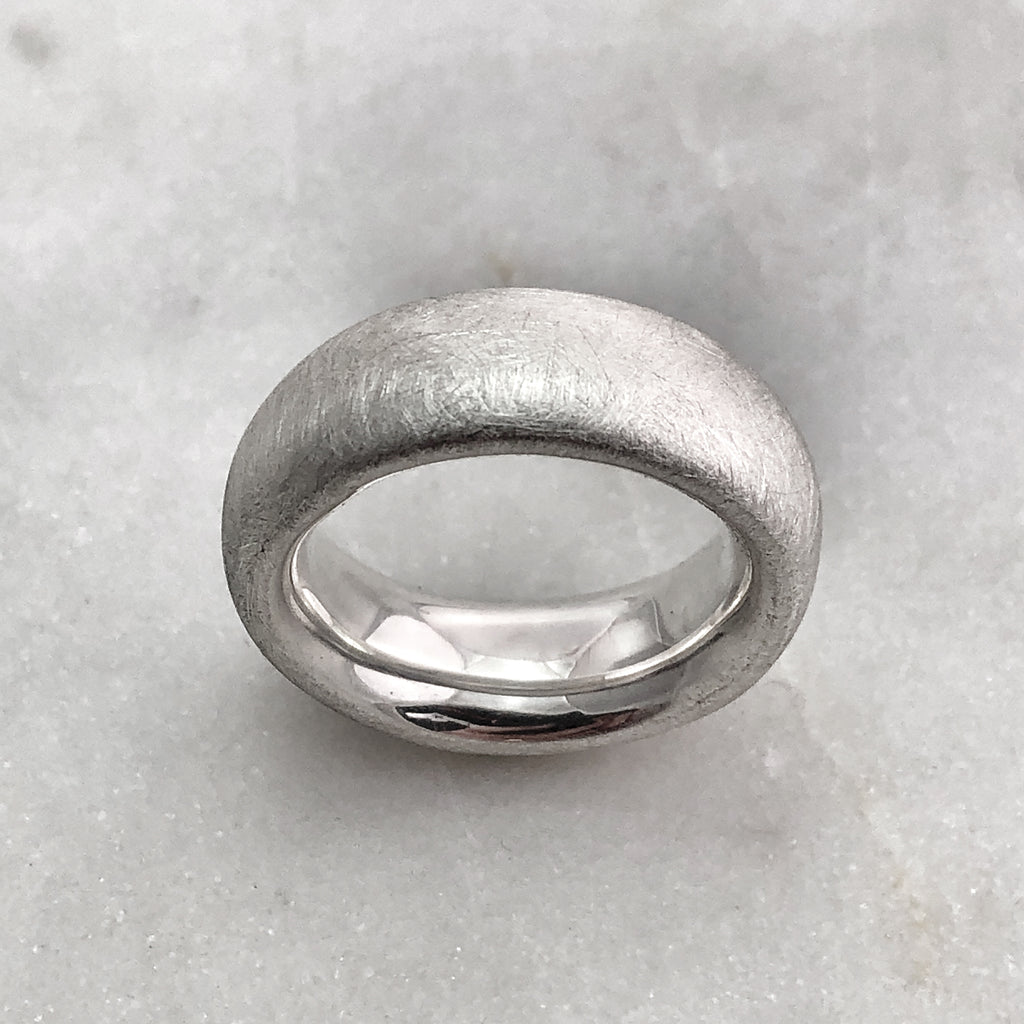 7.9mm Matt Silver Band