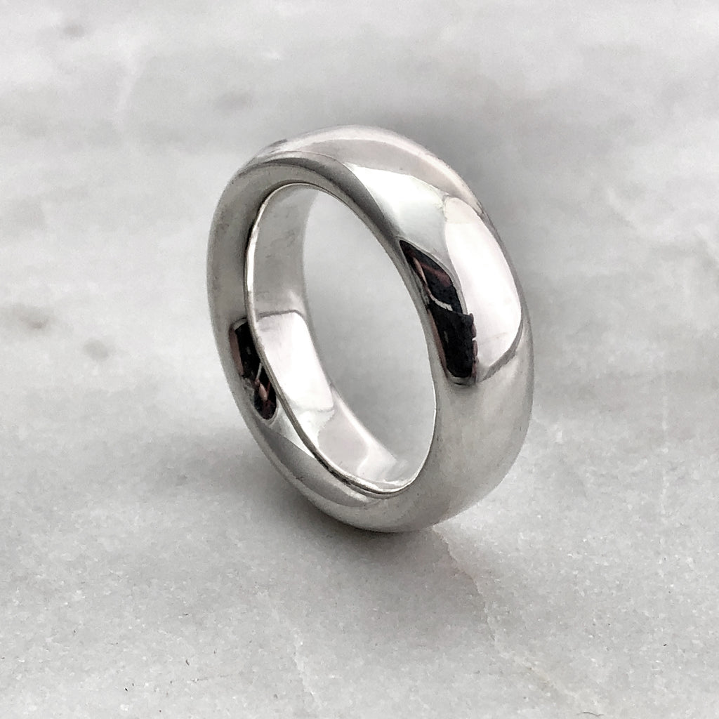 7.9mm Polished Silver Band