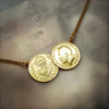 Double Gold Threepence Necklace
