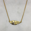 Gold Oak Leaf & Bee Necklace