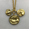Three Gold Coin Necklace