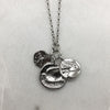 Three Silver Coin Necklace