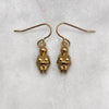 Venus Of Willendorf Gold Earrings