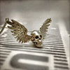 Silver Winged Skull Necklace