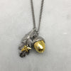 Acorn, Leaf & Bee Necklace