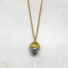 Gold Cup & Silver Acorn Necklace