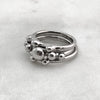 Three Ball Silver Ring