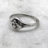 Silver Bee Signet Ring