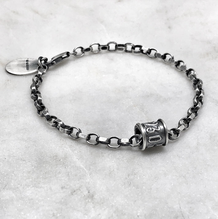 Single Oxidised Bird Leg Ring Bracelet