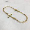 Bone Cross Gold Bracelet
