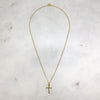 Bone Cross Gold Necklace