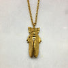 Tiny Gold Cicada Necklace