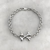 Cross-Bone Silver Bracelet