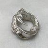 Silver Crow Claw Ring