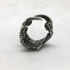 Oxidised Silver Crow Claw Ring