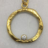 Gold & Diamond Ring Necklace