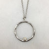 Silver & Diamond Ring Necklace