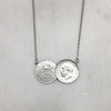 Double Silver Sixpence Necklace