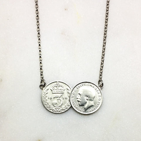 Double Threepence Necklace
