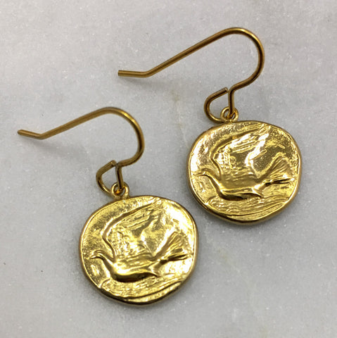 Gold Dove Earrings