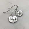 Dove Coin Earrings