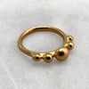 Five Ball Gold Ring