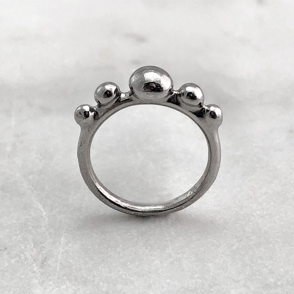 Five Ball Silver Ring
